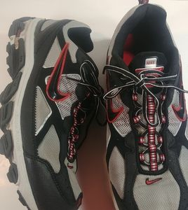 Nike Tri-D Trail Running Shoes Black & Red 2007😎